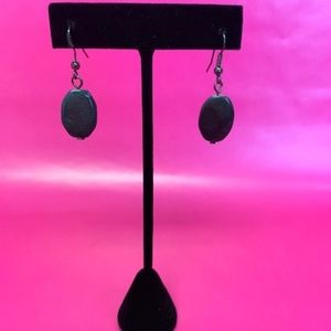 DARK GRAPHITE BEADED EARRINGS